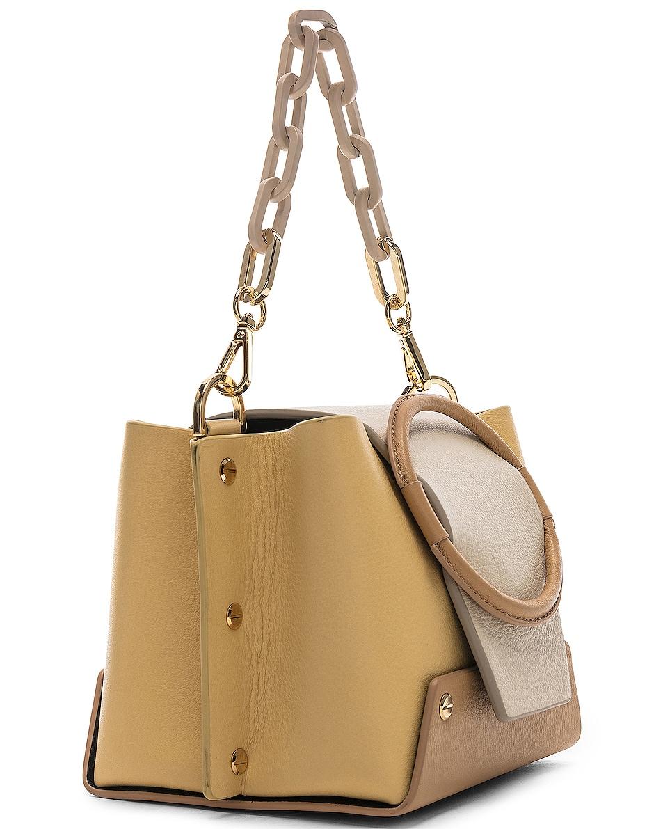 Image 4 of Yuzefi Mini Delila Bag in Apricot & Cream
