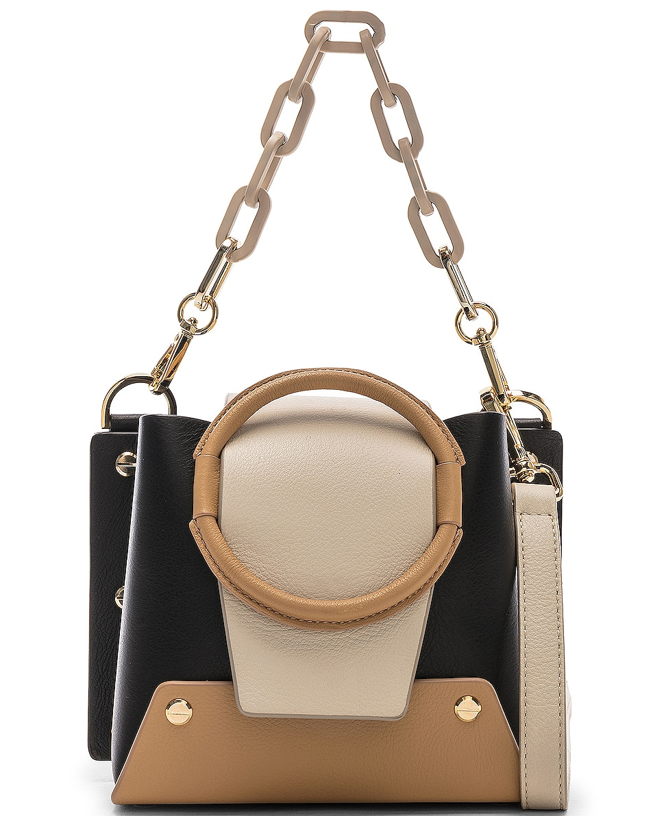 Image 1 of Yuzefi Mini Delila Bag in Nero & Cream