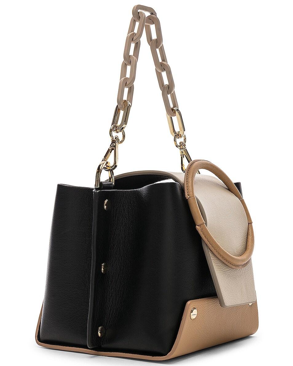 Image 3 of Yuzefi Mini Delila Bag in Nero & Cream
