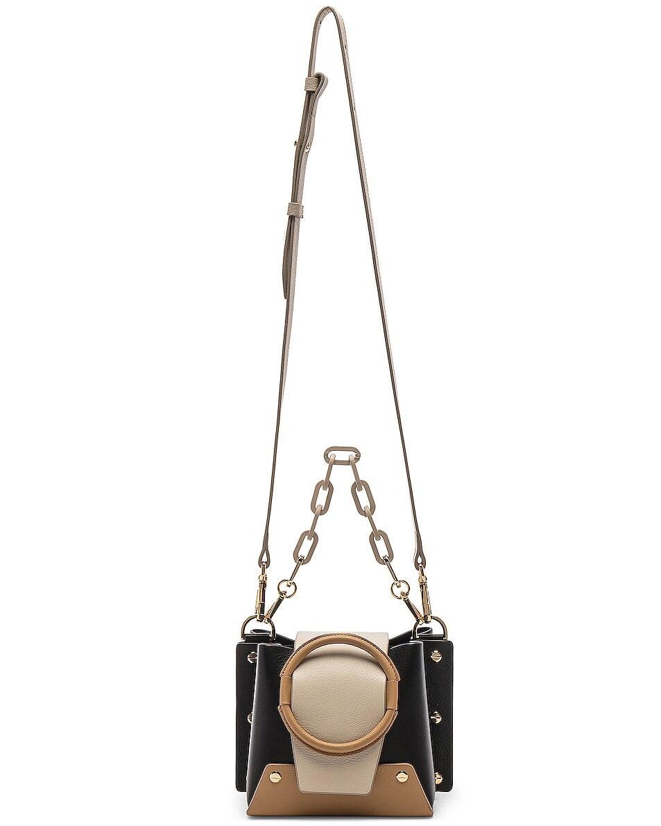 Image 5 of Yuzefi Mini Delila Bag in Nero & Cream