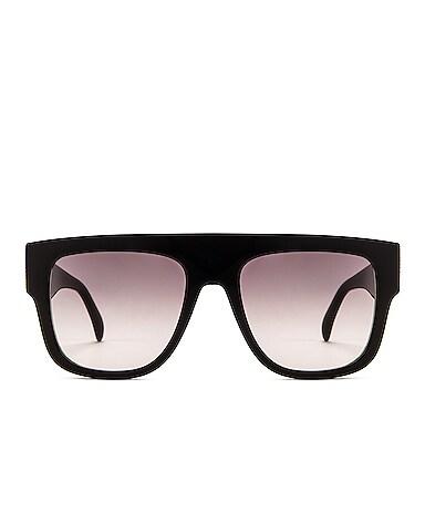 Flat Top Stud Sunglasses