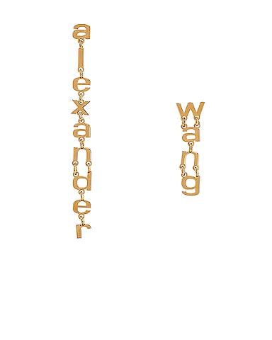 Small Letter Earrings