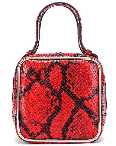 Halo Top Handle Snake Print Bag
