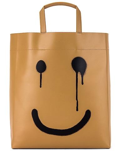 Happy Printed Market Tote Bag
