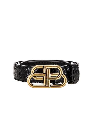 Embossed Croc BB Thin Belt