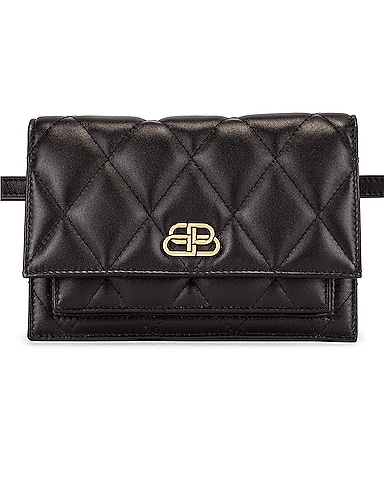 XS Quilted Leather Sharp Belt Bag