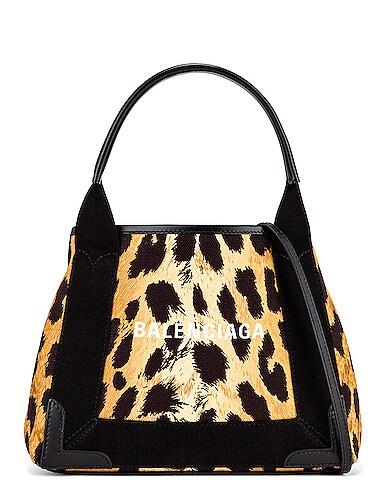 XS Leopard Navy Cabas Bag