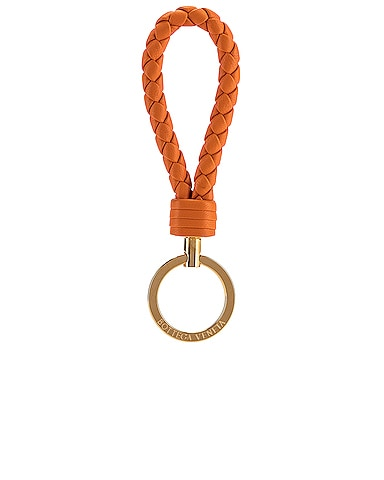 Leather Woven Key Ring