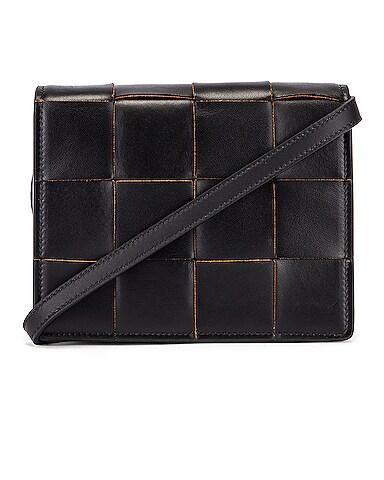 Woven Leather Crossbody Bag