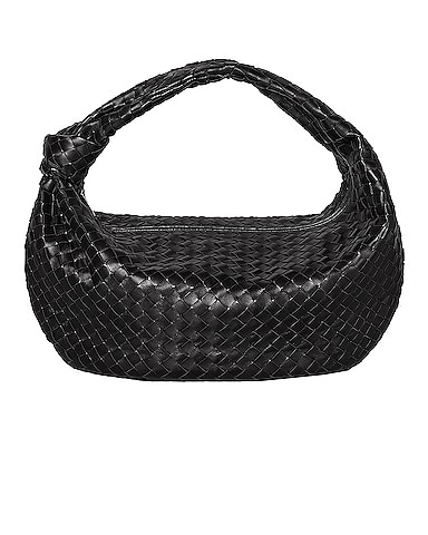 Large Leather Woven Shoulder Bag