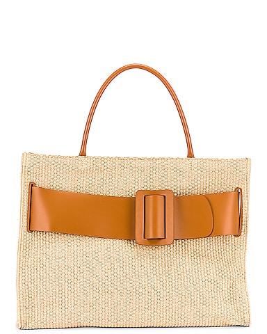 Bobby 50 Natural Raffia Bag