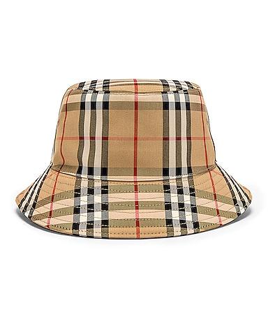 Heavy Cotton Check Bucket Hat