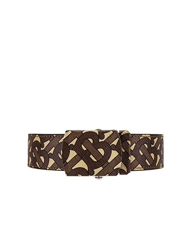 Monogram E-Canvas Belt