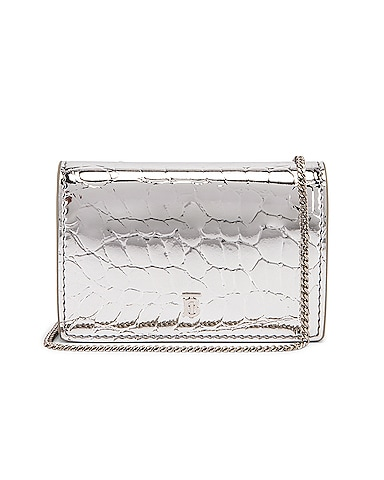 Jessie Metallic Embossed Croc Bag