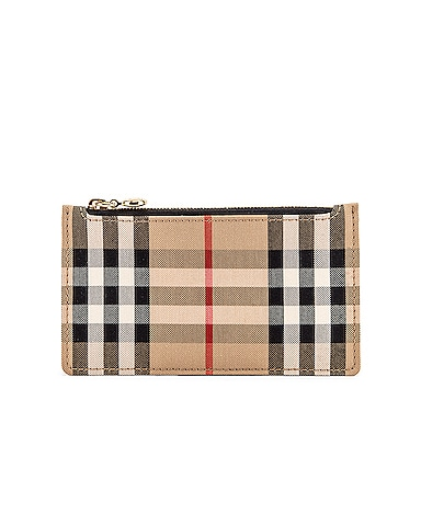 Somerset Vintage Check Zip Card Wallet