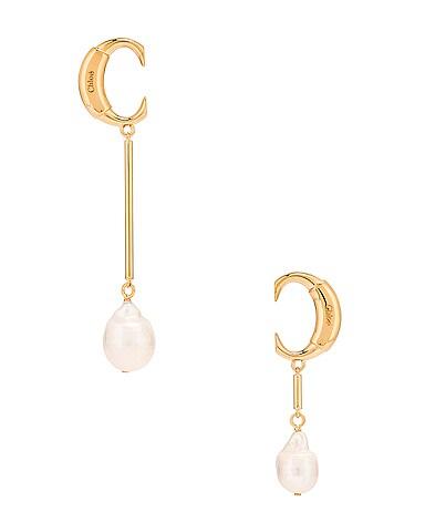 C Drop Earrings
