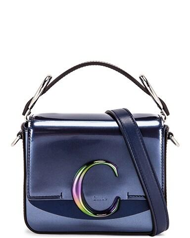 Mini C Iridescent Box Bag