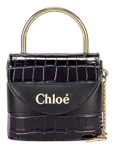Small Abylock Embossed Croc Padlock Bag
