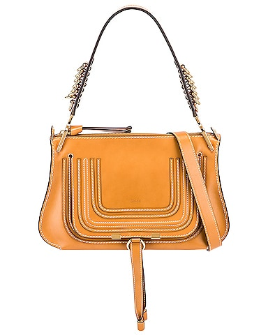 Medium Marcie Leather Saddle Bag