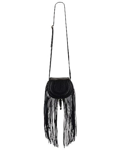 Small Marcie Fringe Saddle Bag