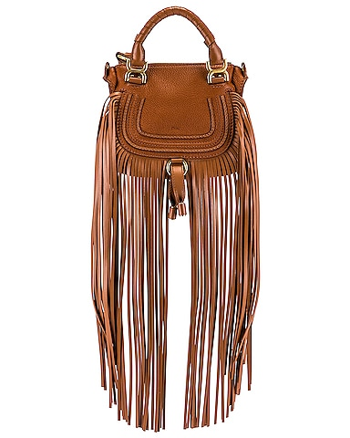 Mini Marcie Fringe Double Carry Bag