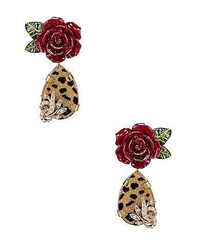 Leo & Roses Earrings