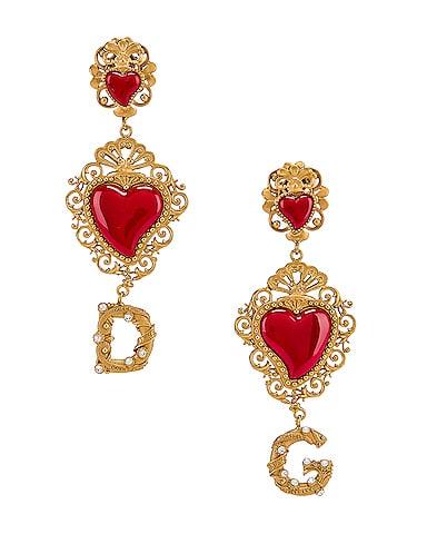 Double Hearts Logo Earrings