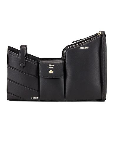 Mini Three Pocket Crossbody Bag