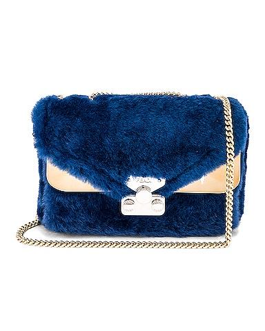 Small Shearling Bug Bag