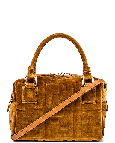 Mini Velvet Boston Bag