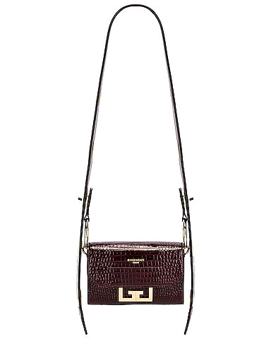 Nano Eden Crocodile Embossed Leather Bag