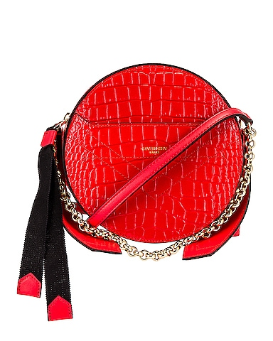 Eden Embossed Croc Round Shoulder Bag