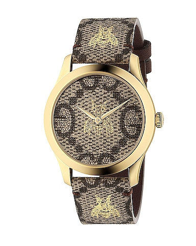 38MM G-Timeless Bee Print Watch
