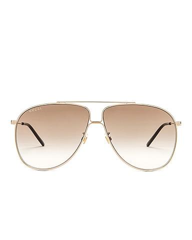 Shiny Gold Aviator Sunglasses