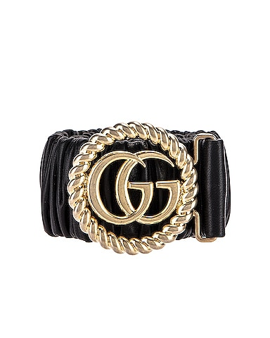 Leather Double G Buckle Belt