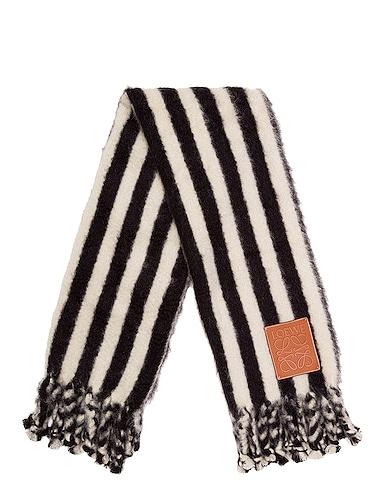 Mohair Stripes Scarf Blanket