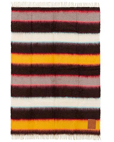 Mohair Stripes Blanket