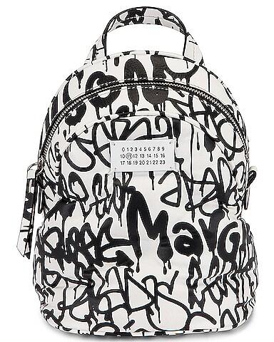 Glam Slam Graffiti Crossbody Backpack