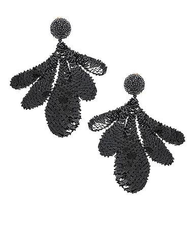 Sequin Leaf Earrings