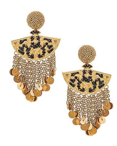 Fan Chain Earrings