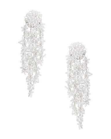Beaded Cascade Drop Earrings