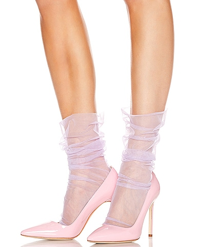 Bobbinet Italian Nylon Tulle Socks