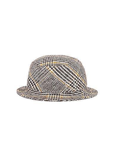 Wool Plaid Bucket Hat