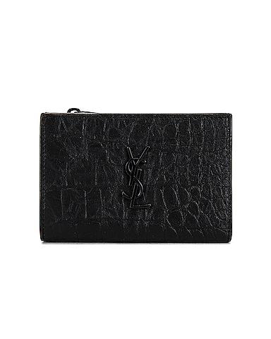 Bi-Fold Zipped Monogram Wallet