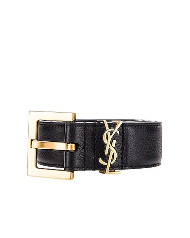 Mongramme Leather Belt