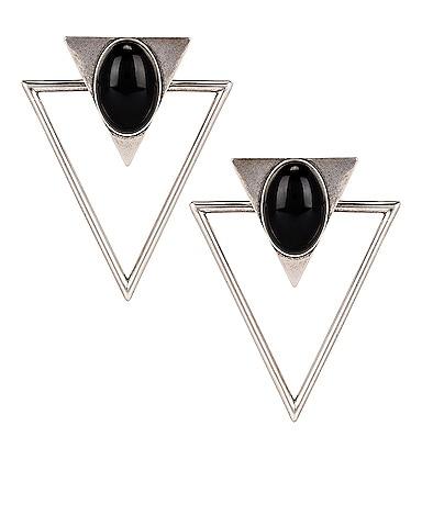 Triangle Clip Earrings