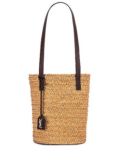 Small Rafia Panier Bucket Bag