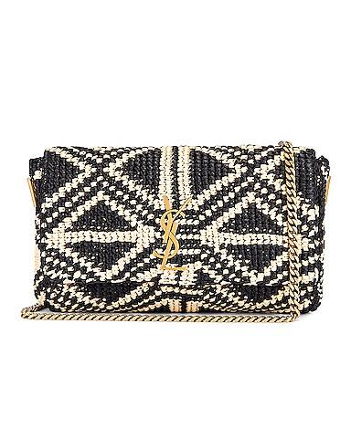 Rafia Monogramme Kate Crossbody Bag