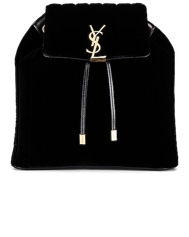 Velvet Monogramme Vicky Backpack