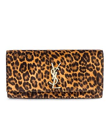 Kate Leopard Clutch